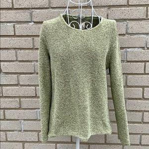 LL Bean Green Knit Sweater